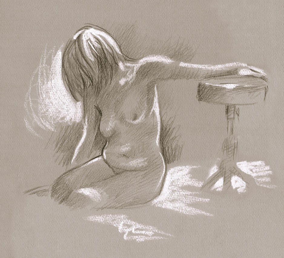 Nude and throne by Harnois75