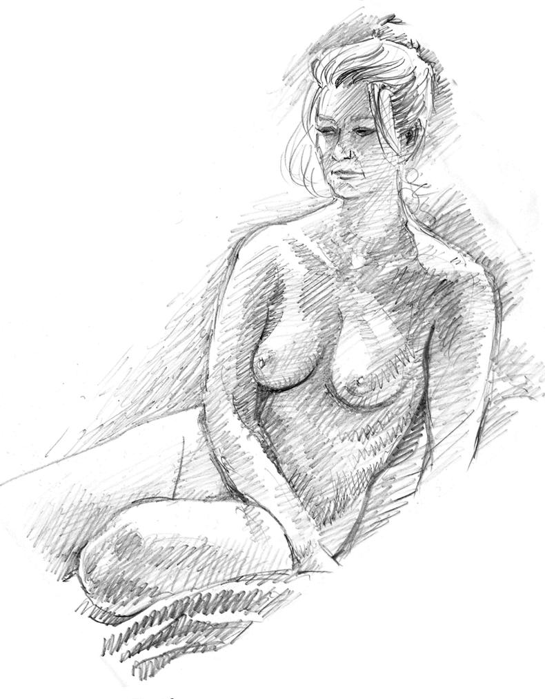 Life Drawing by Harnois75