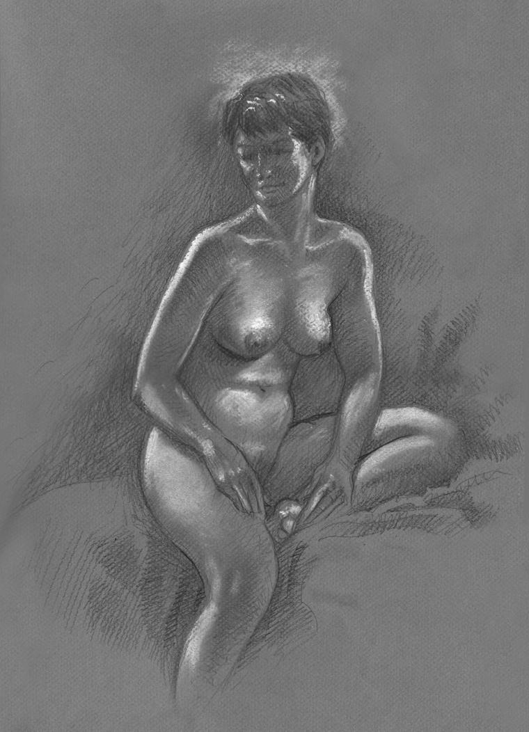 Female nude by Harnois75