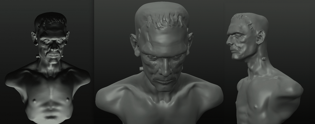 Monster - Boris Karloff - digital sculpt by Harnois75