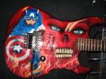 Captain America guitar by WEDMER