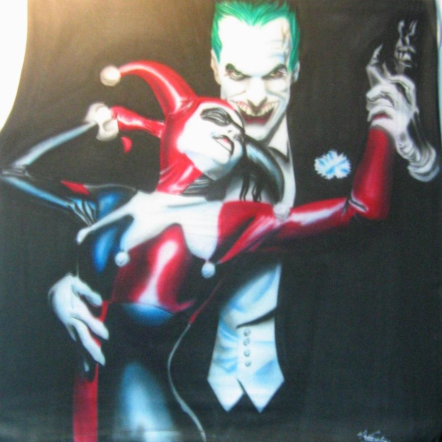 Joker Harley Quinn Airbrush T by WEDMER