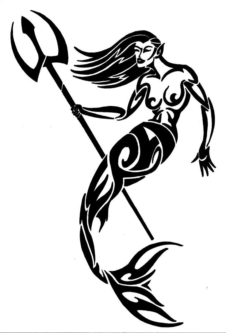 tribal mermaid design by wedmer on deviantart. Black Bedroom Furniture Sets. Home Design Ideas