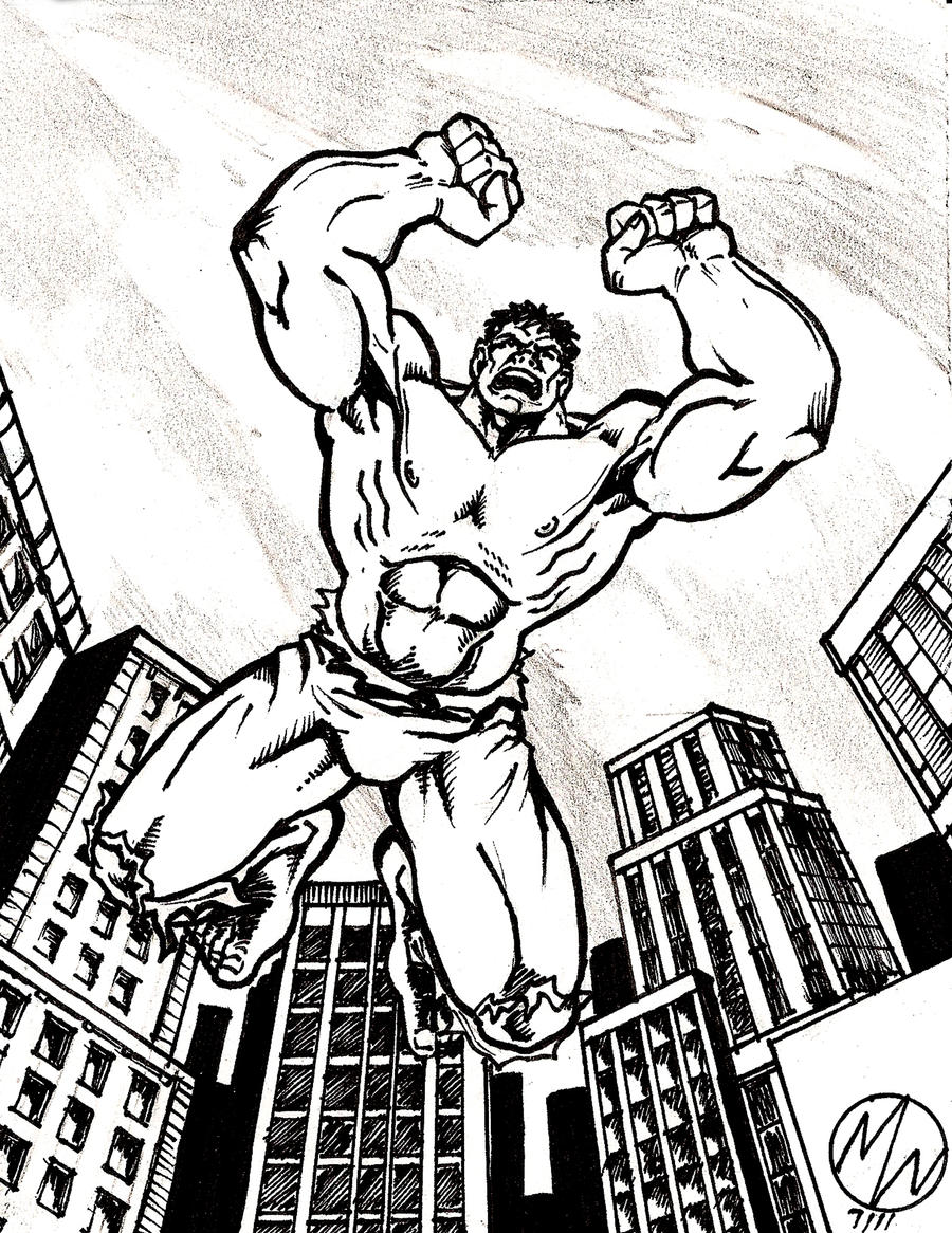 Hulk Inked drawing by WEDMER on DeviantArt