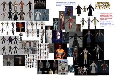 (2014) Star Wars Game models by FleetAdmiral01