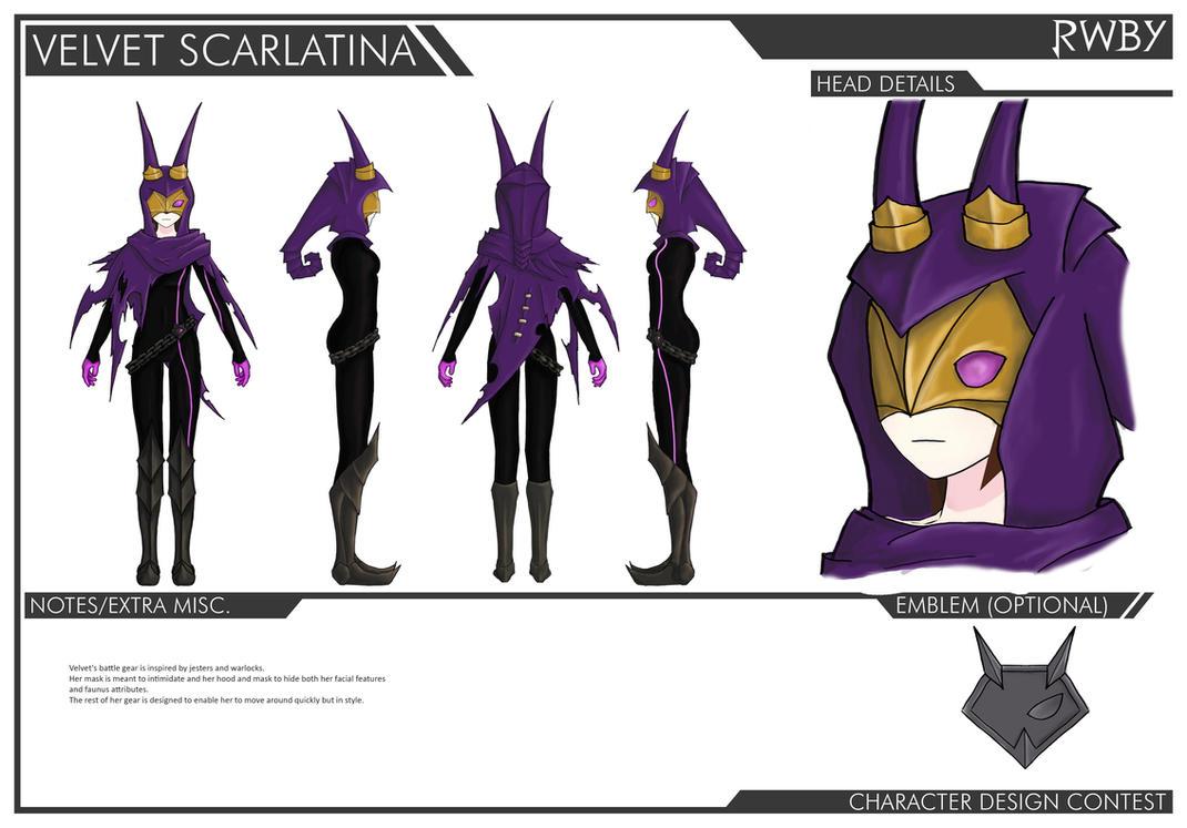Rwby Character Design Contest : Velvet battlegear contest rwby by cetah on deviantart