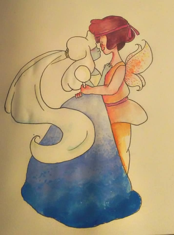 Watercolor, Ink Fan Art: Steven Universe