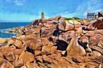 The pink granite coast - Ploumanac'h- Brittany.