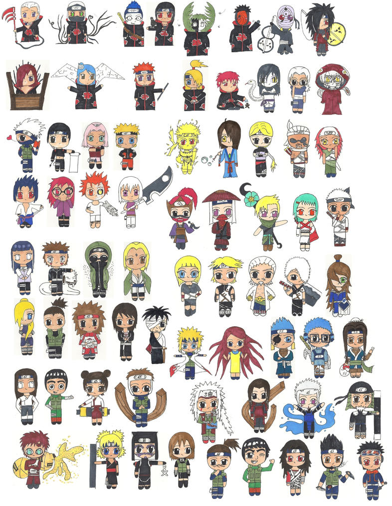 Anime Characters From Naruto : Characters from naruto in chibi by samira smile on deviantart