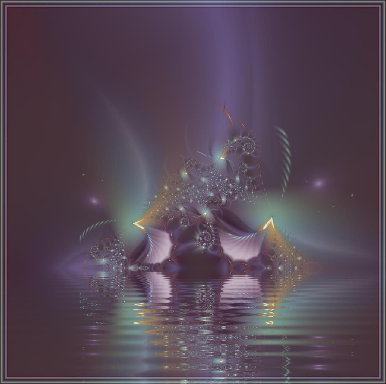 Falling Fractal Star by deloulark