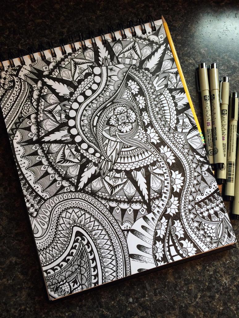 Tangled Mandala by AlphaEyeCreations