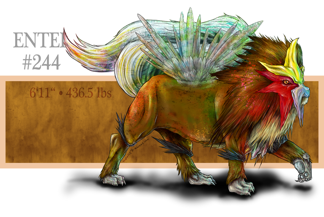 Real Pokemon: #244 Entei by StephanieGrafe