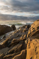 Golden Hour at Bean Hollow State Beach by FeralWhippet