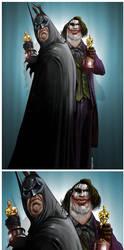 bat and joker by dugazm