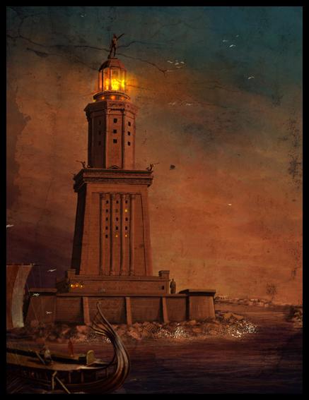 The Pharos of Alexandria by dugazm