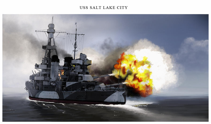USS Salt Lake City by dugazm