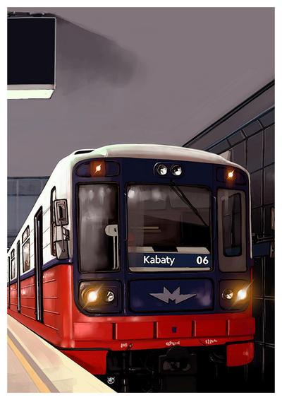 Warsaw metro train , series 81 by dugazm