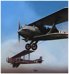 Polish Wings  Breguet 19 and Farman F68 Goliath by dugazm