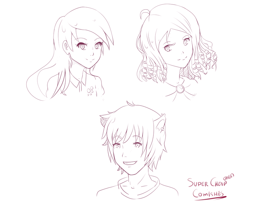 Batch 1: Free Headshot Comishes by JamesCervantes