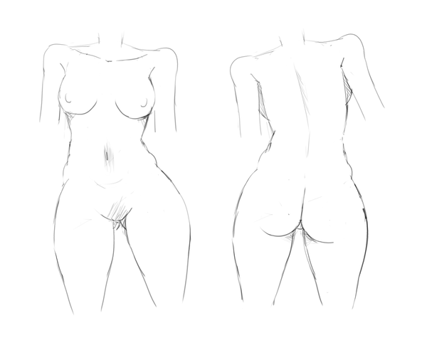 Nude Female Practice by JamesCervantes