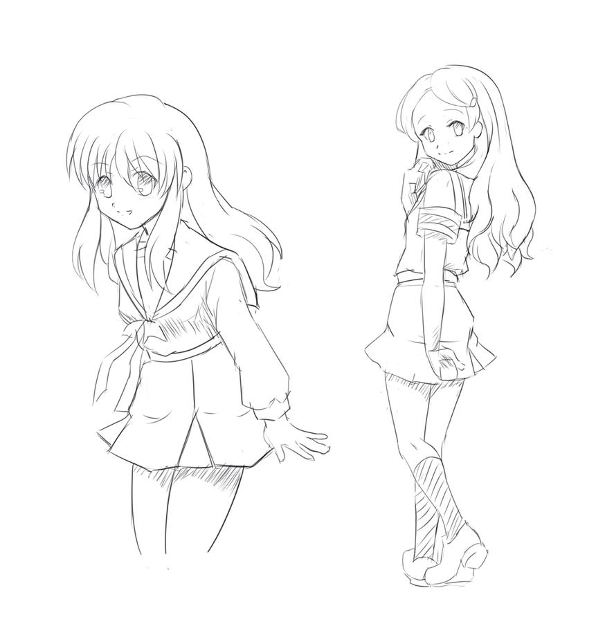 Mikuru and Kimidori by JamesCervantes