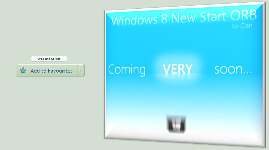 Windows 8 Original New Metro / Glow Start Orb by CianDesign