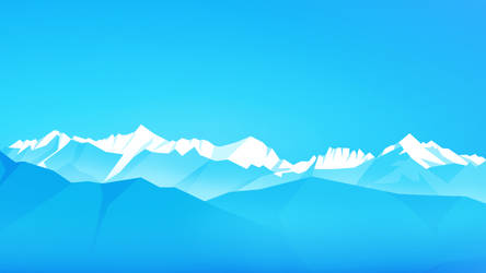 Cyan Mountains by CianDesign