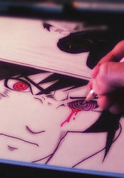 Sasukes Rinnegan sketch