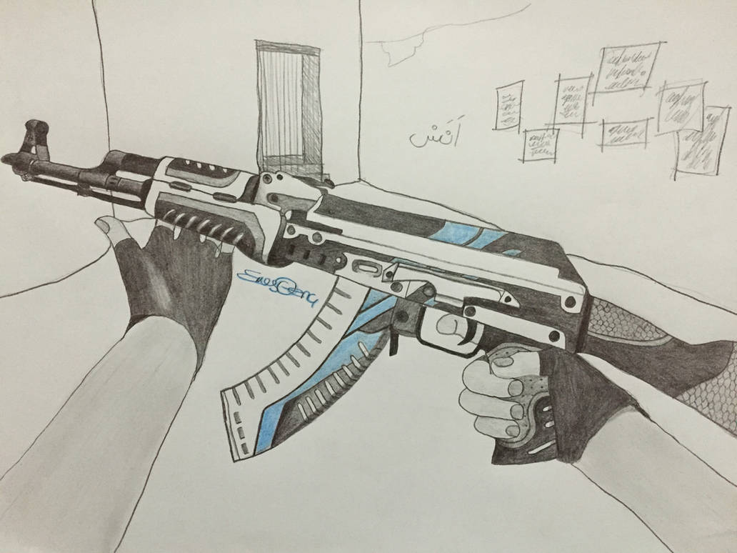 Ak 47 Vulcan Drawing By Ebesininnikahi On Deviantart