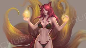 Foxfire Ahri -  Commission