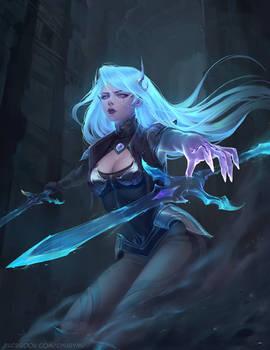 Death Sworn Katarina Skin League of Legends