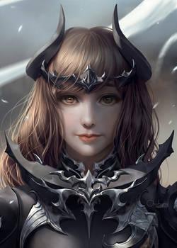 Final fantasy XIV's Dark knight armour