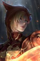 FFXIV - Flame Warrior by ChubyMi