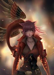 Phoenix warrior by ChubyMi