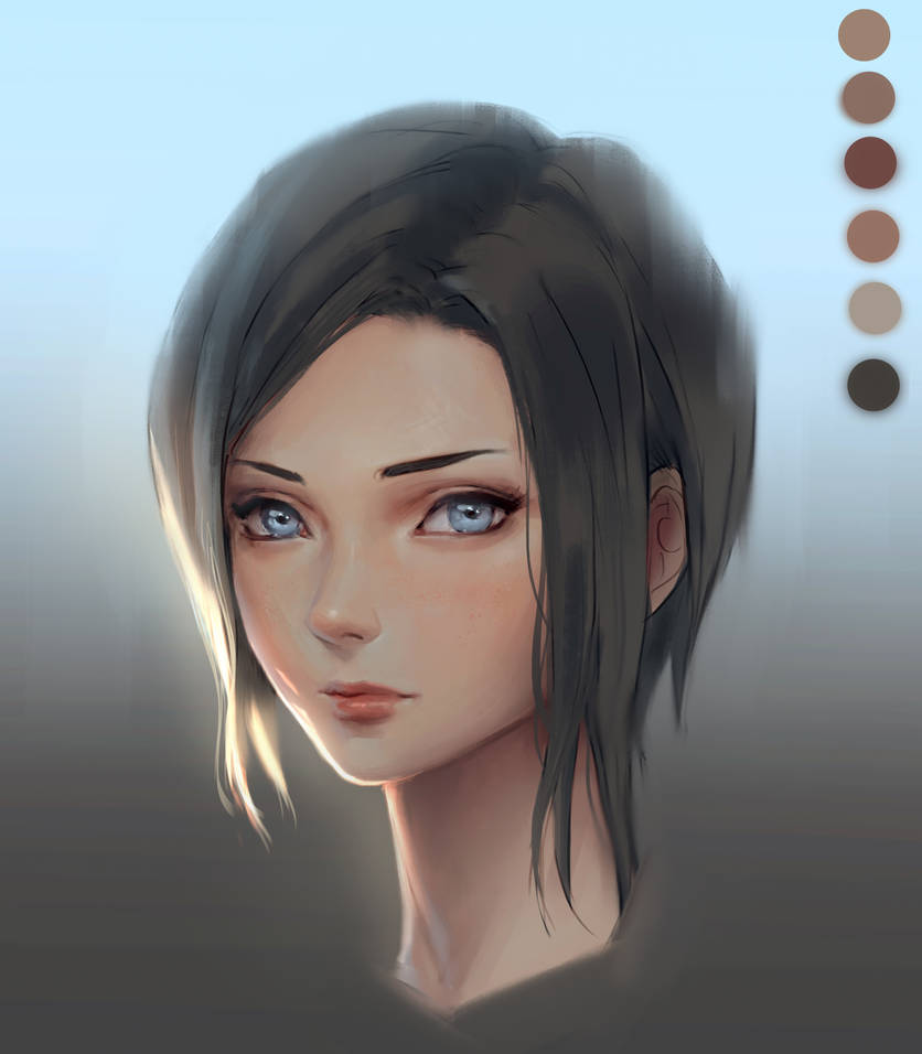 Skin rendering in Photoshop by ChubyMi
