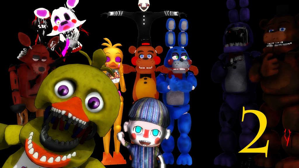 mmd makes five nights at freddys 2 not scary by