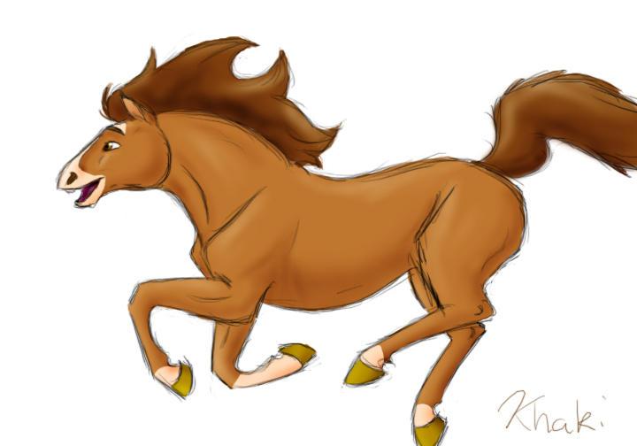 horse by khaki