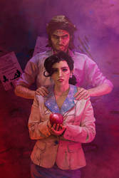 Bigby and Snow - The Wolf Among Us by MaryMustang01