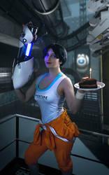 Portal 2 - Chell cosplay