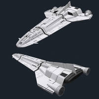 BattleStar Galactica - Liner by AdamKop