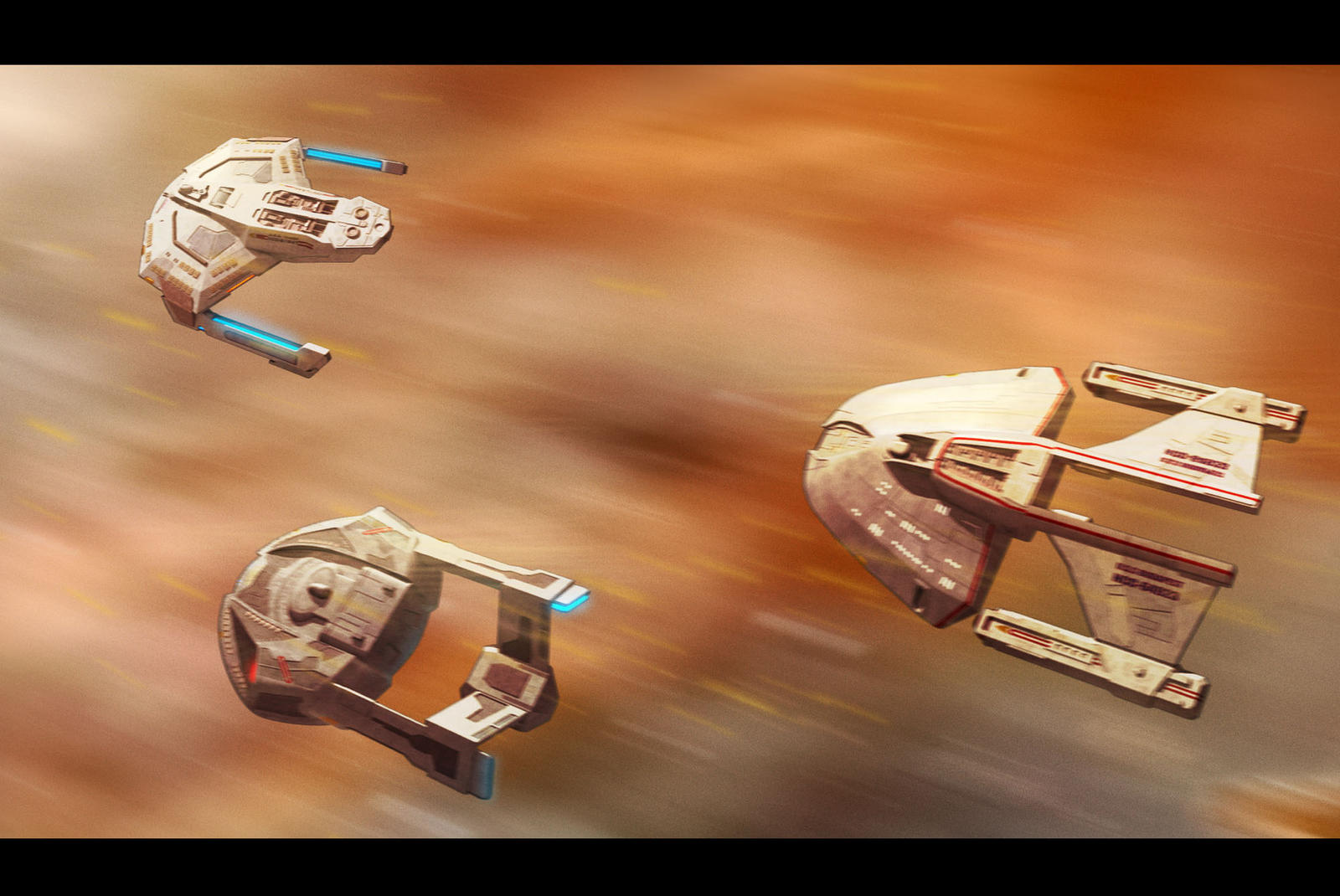 Star Trek First Contact Fleet by AdamKop