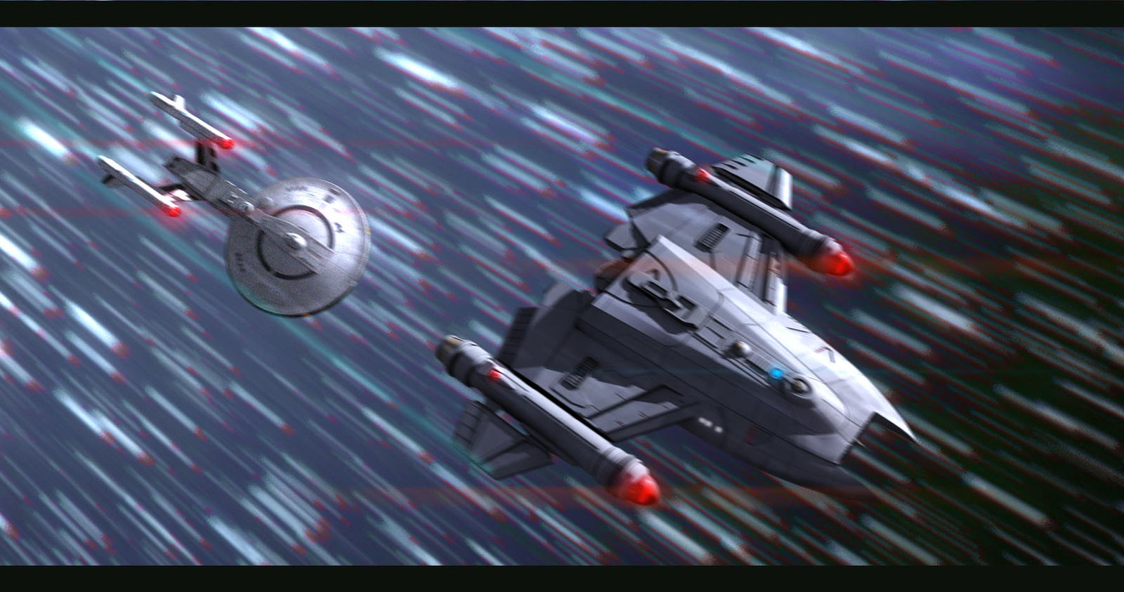Star Trek : Cruising at Warp by AdamKop