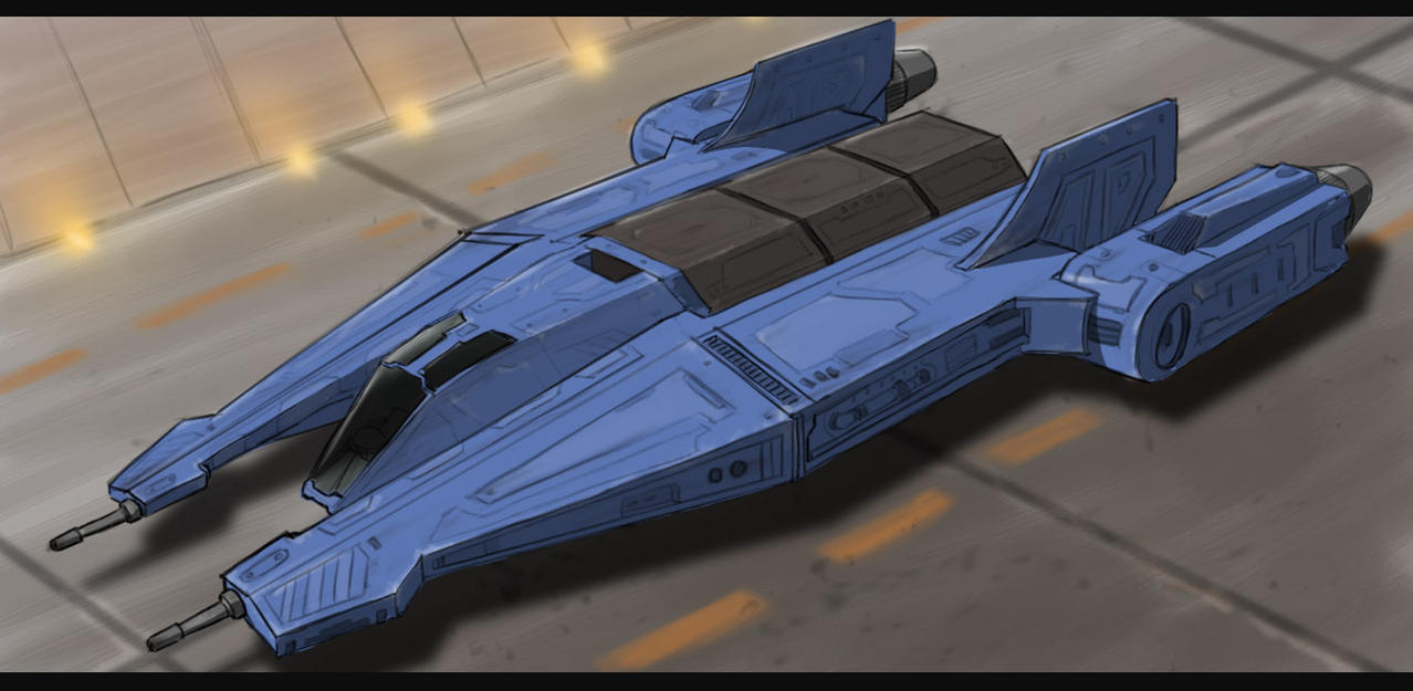 Star Wars Mandalorian Ship by AdamKop