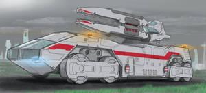 Sci Fi Mobile Artillery by AdamKop