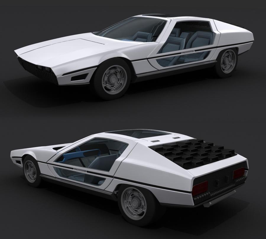 Lamborghini Marzal 3D by AdamKop