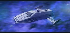 Imperial Carrier in Hyperspace by AdamKop