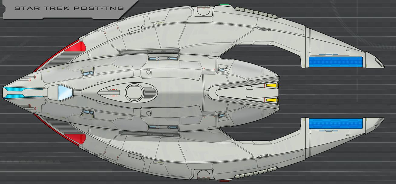 Star Trek Post TNG Ship Finished By AdamKop On DeviantArt