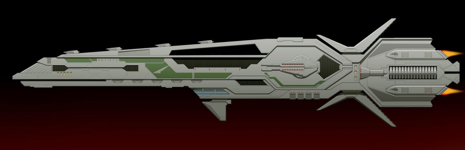 Sci-Fi Destroyer by AdamKop