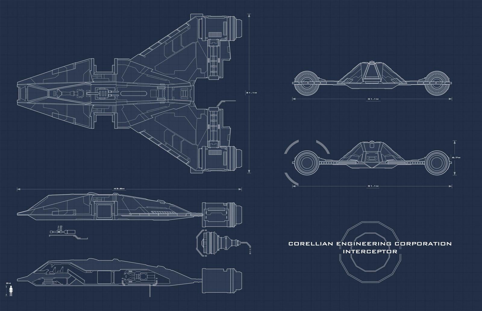 star wars interceptor blueprint by adamkop on deviantart. Black Bedroom Furniture Sets. Home Design Ideas