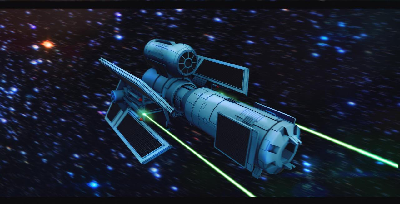 TIE Obliterator 3D Commission by AdamKop